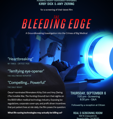 The Bleeding Edge Documentary Film Poster